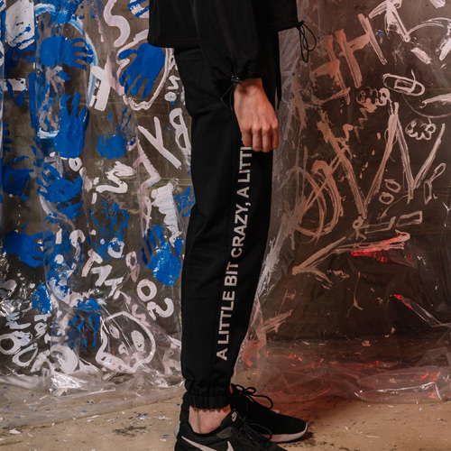 [네스티해빗] [UNISEX] LITTLE BIT JOGGER PANTS (BLACK)