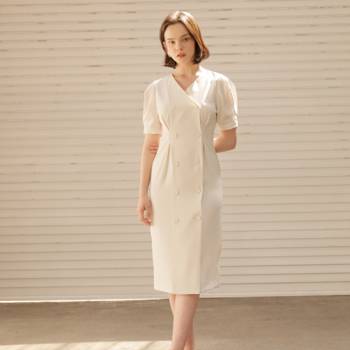 [엽페] double puff dress_ivory