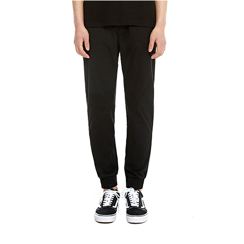 [텐모어]  LINEN SLIM JOGGER PANTS - BLACK