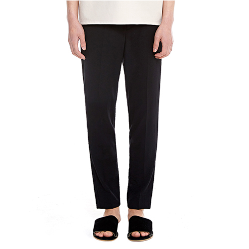 [텐모어]  LINEN SLIM PANTS -BLACK