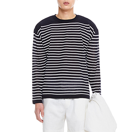 [텐모어]  TENMORE STRIPE KNITS - NAVY