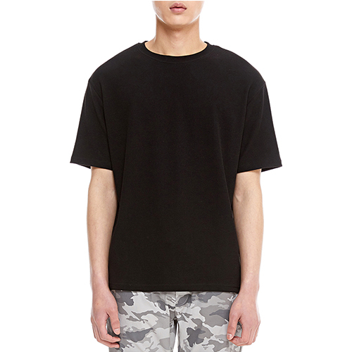 [텐모어]  TRUE COLOR HALF T-SHIRTS - BLACK