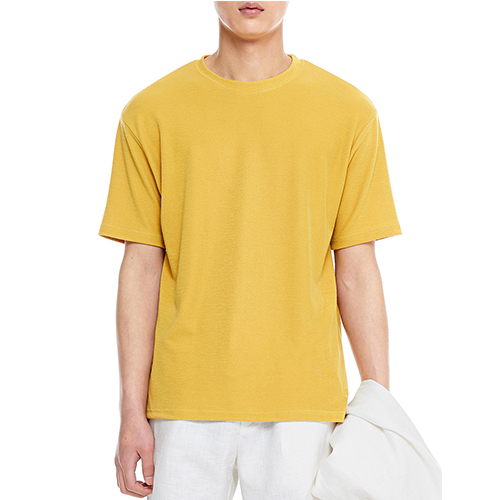[텐모어]  TRUE COLOR HALF T-SHIRTS - MUSTARD