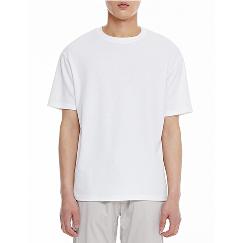 [텐모어]  TRUE COLOR HALF T-SHIRTS - WHITE