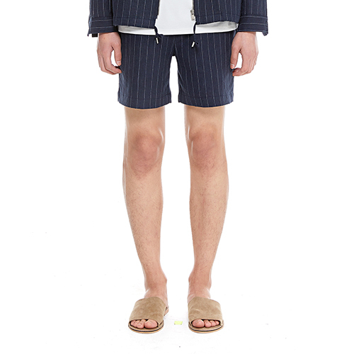 [텐모어] STRIPE SHORTS - NAVY