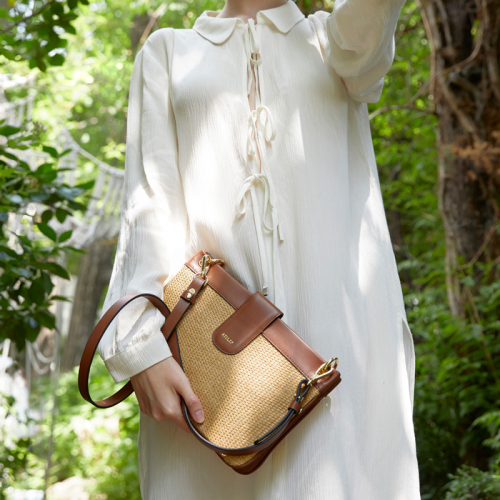 [엣클립]DOUBLE BAG (RATTAN BROWN)
