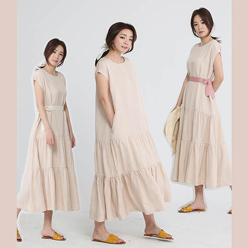 [플라이런웨이] 18S/S LINEN TWO WAY LONG DRESS
