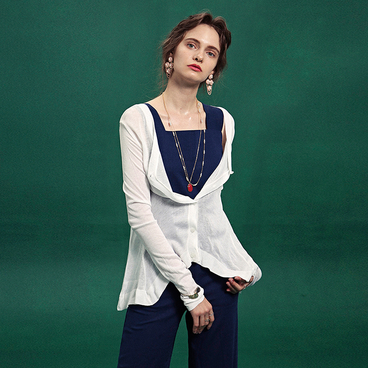 [DEANS] SUMMER COVER-UP CARDIGAN_WHITE