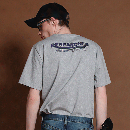 [고쉬스튜디오] CAREERS RESEARCHER T-SHIRTS(GREY)