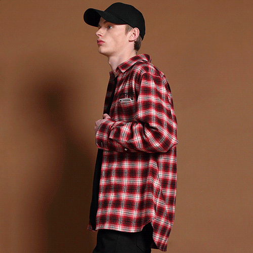 [고쉬스튜디오] GAUCHE UNIFORM CHECK-SHIRTS(RED)