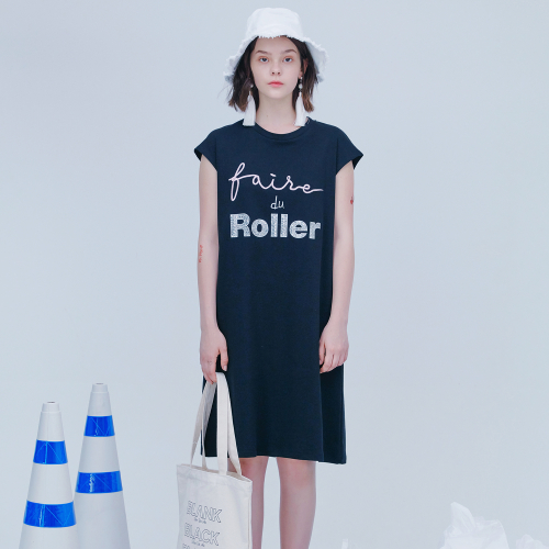 [블랭크] ROLLER SUMMER DRESS-BLACK