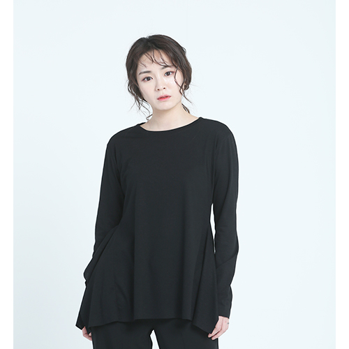 [플라이런웨이] 18S/S SIDE FRILL BASIC TEE