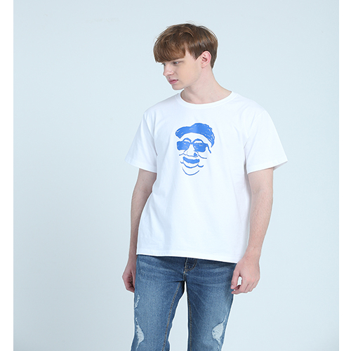 [플라이런웨이] 18S/S POINT HAHOETAL TEE-WHITE