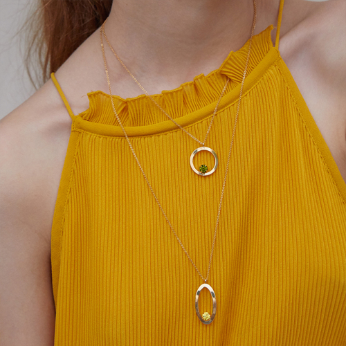 마티아스[] Round candy Necklace - Gold