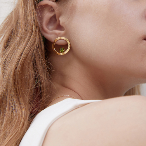 마티아스[] Round candy Earring - Gold