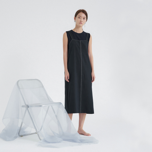 [노타] CAPSULE STITCH DRESS NAVY