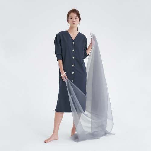 [노타] CAPSULE ROBE DRESS NAVY