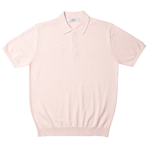 [암위] [AM.WE] KNIT PK HALF SHIRT_[PINK]