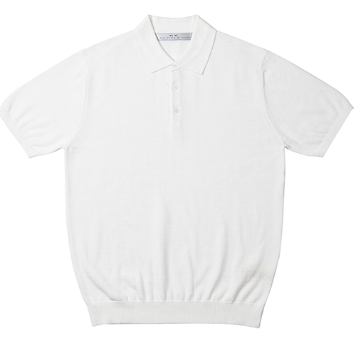 [암위] [AM.WE] SS_KNIT PK HALF SHIRT_[WHITE]