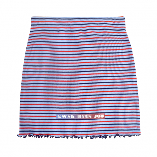[곽현주컬렉션] [젯콜리코] SKY BLUE STRIPE SLEEVE-LESS SKIRT