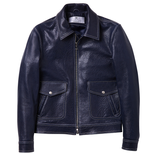 [암위] [AM.WE] NAVY FLIGHT HIDE JACKET