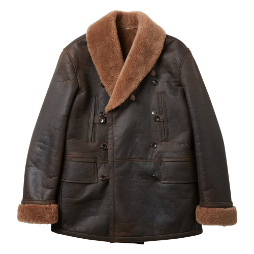 [암위] [AM.WE] BROWN MOUTON DECK COAT