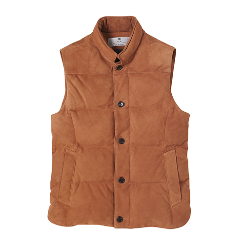 [암위] [AM.WE] GOOSE DOWN VEST BROWN