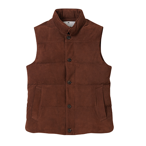 [암위] [AM.WE] GOOSE DOWN VEST DARK BROWN