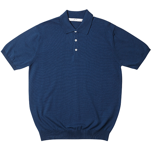 [암위] [AM.WE] PK KNIT Half Shirt_BLUE