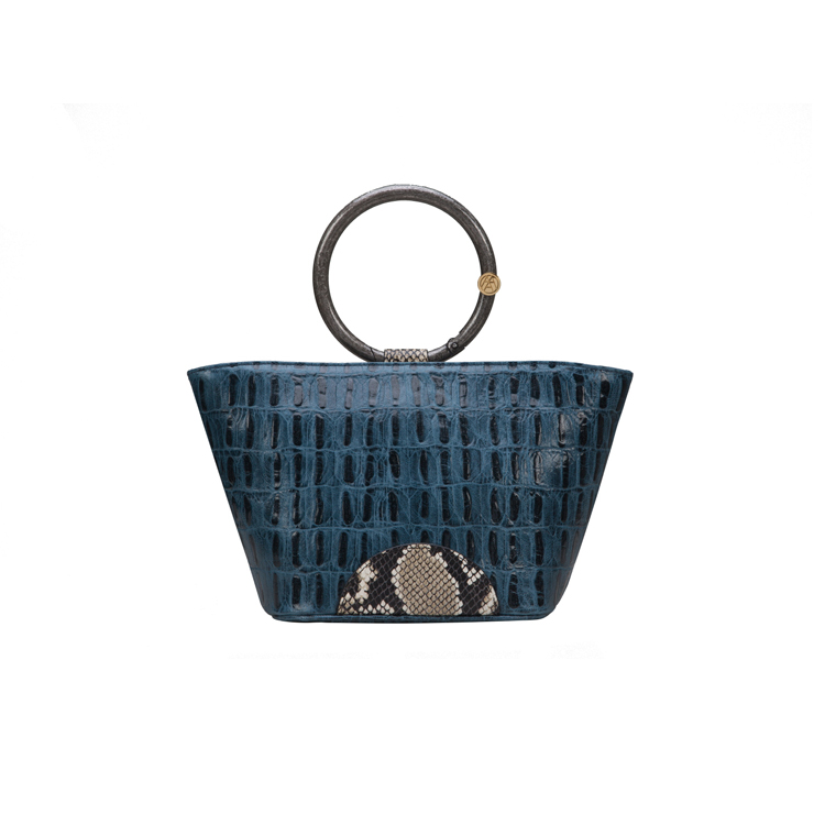 [아라크나인] NUBI MINI TOTE - crocodile navy
