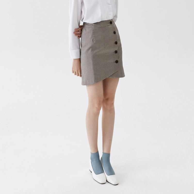 [엽페] round wrap skirt_brown