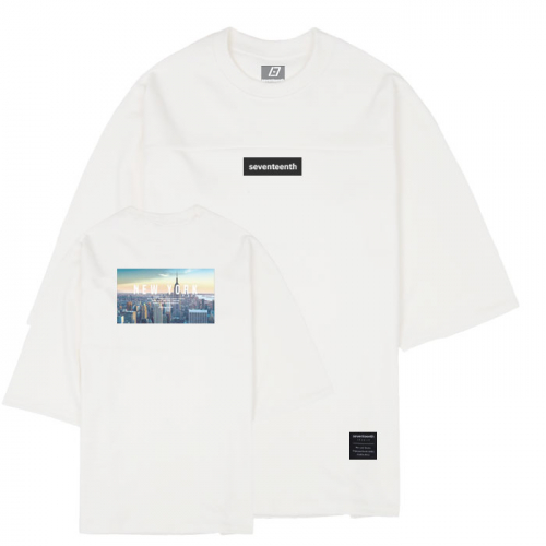 CITY VIEW NEW YORK 7CUT SWEATSHIRTS-IVORY