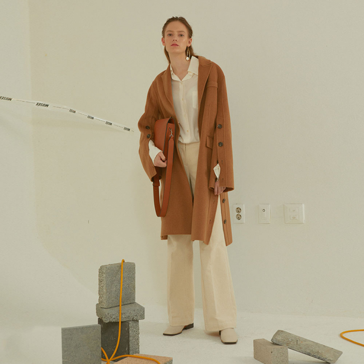 [MUSEE]Camille  Handmade Sleeve pointed coat _ Camel