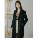 [무니드] [무니드]BASIC WOOL SINGLE LONG COAT - BLACK