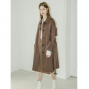 [무니드] [무니드]RAGLAN SLEEVES TRENCH COAT- BORWN