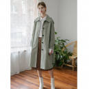 [무니드] [무니드]RAGLAN SLEEVES TRENCH COAT- KHAKI