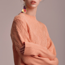 [블리다] peach chain knit top