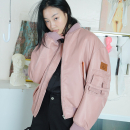 [더센토르] Leather Patch MA -1 Jumper [PINK]