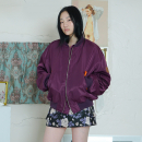 [더센토르] Leather Patch MA -1 Jumper [PURPLE]