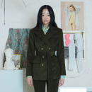 [더센토르] BELTED CORDURAY JACKET [KHAKI]