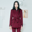 [더센토르] BELTED CORDURAY JACKET [WINE]