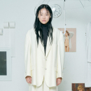 [더센토르] JEWELRY BUTTON OVERSIZE JACKET [IVORY]