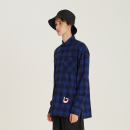[디바이디그낙] D Embroidery Check Shirts(BL)