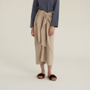 [노타] TWIST THIN WOOL SKIRT OATMEAL