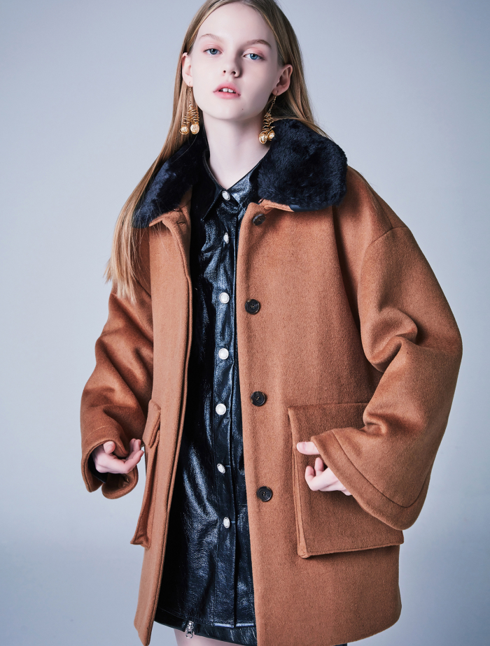 [블랭크] DOLLY FUR COAT-BEIGE