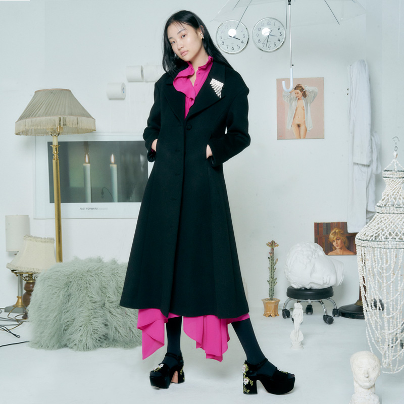 [더센토르] FLARE WOOL COAT [BLACK]
