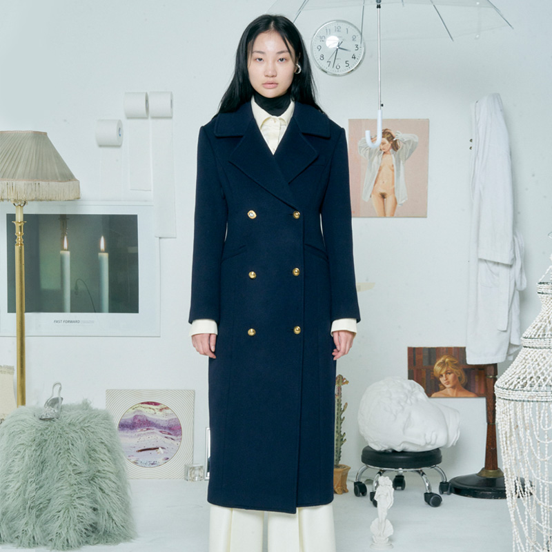 [더센토르] WOOL ARMY COAT [NAVY]