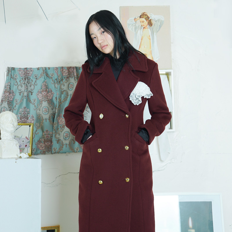 [더센토르] WOOL ARMY COAT [WINE]