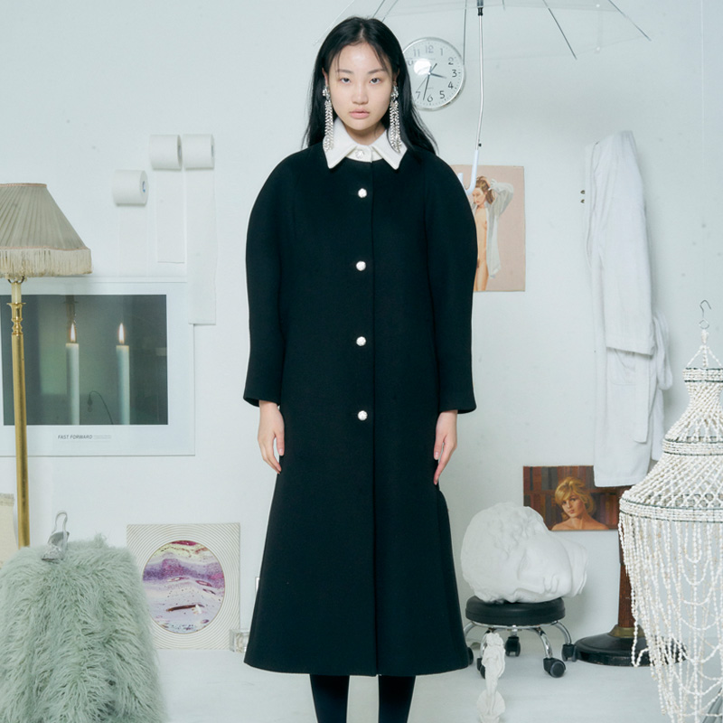 [더센토르] WOOL AURORA COAT [BLACK]