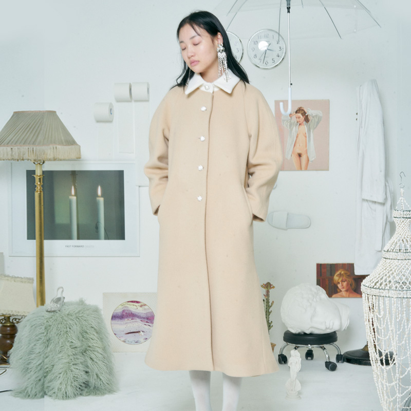 [더센토르] WOOL AURORA COAT [BEIGE]